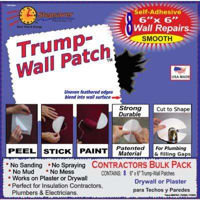 6 in. x 6 in. Self-Adhesive Dura Patch Smooth Contractors 30 Patch Wall Repair Kit (10-Pack)