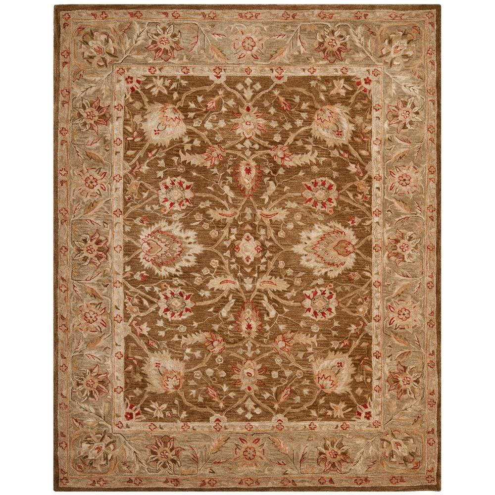 Safavieh Anatolia Brown Green 9 Ft X 12 Ft Area Rug
