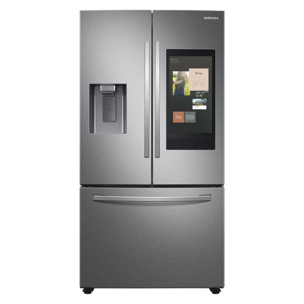 Samsung 26.5 cu. ft. Family Hub French Door Smart Refrigerator in Fingerprint Resistant Stainless Steel was $3199.0 now $2198.0 (31.0% off)