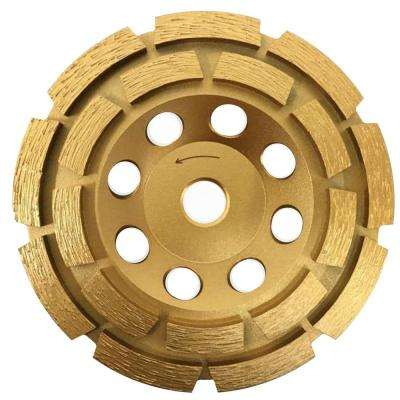 4 in. Double Row Diamond Grinding Cup Wheel for Concrete and Mortar