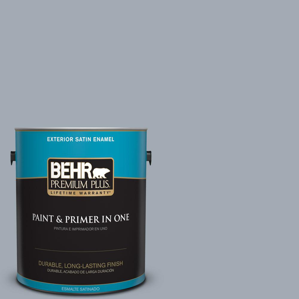 BEHR Premium Plus 1-gal. #T13-6 Twilight Satin Enamel Exterior Paint