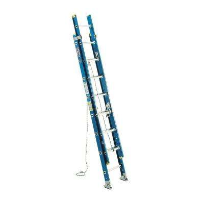 16 ft. Fiberglass D-Rung Extension Ladder with 250 lb. Load Capacity Type I Duty Rating