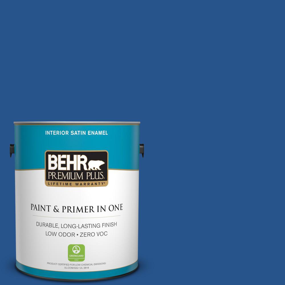 1 gal. #PPU15-03 Dark Cobalt Blue Zero VOC Satin Enamel Interior