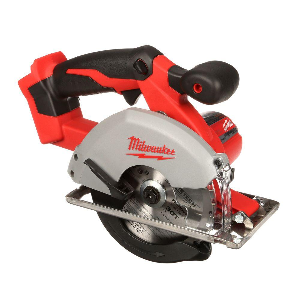 milwaukee m18 18volt lithiumion 538 in cordless metal saw the home depot