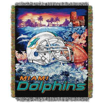 Dolphins Multi Color Tapestry Home Field Advantage