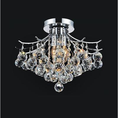 Princess 4-Light Chrome Flush Mount