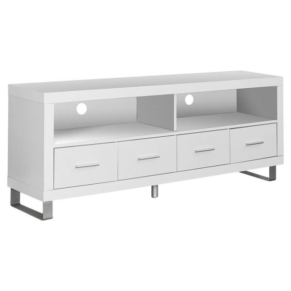 White 60 in.TV Stand