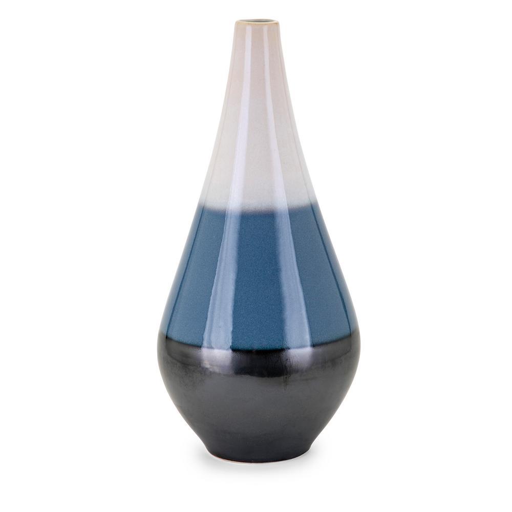 Naz Blue Ceramic Decorative Vase