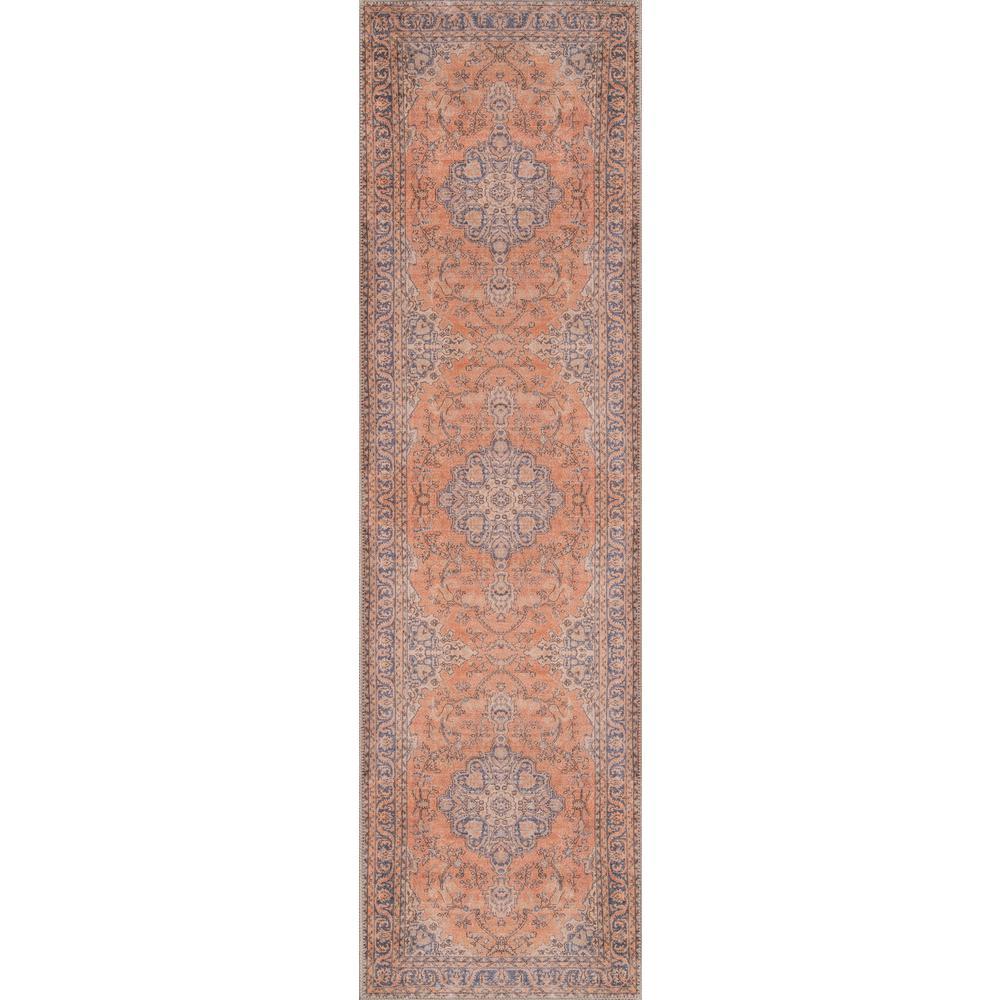 Afshar AFS11 Copper 2 ft. x 8 ft. Runner Rug