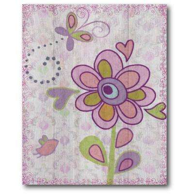 "16 in. x 20 in. ""Purple Flower Power I"" Gallery Wrapped Canvas Printed Wall Art"