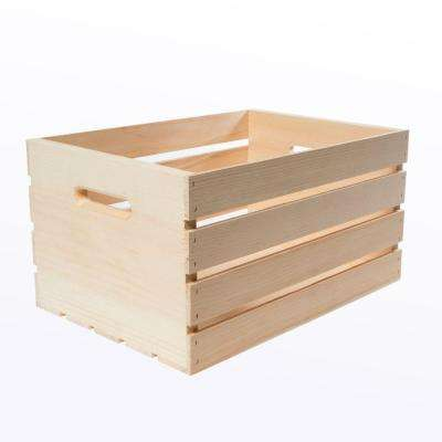 18 in. x 12.5 in. x 9.5 in. Large Wood Crate (3-Pack)