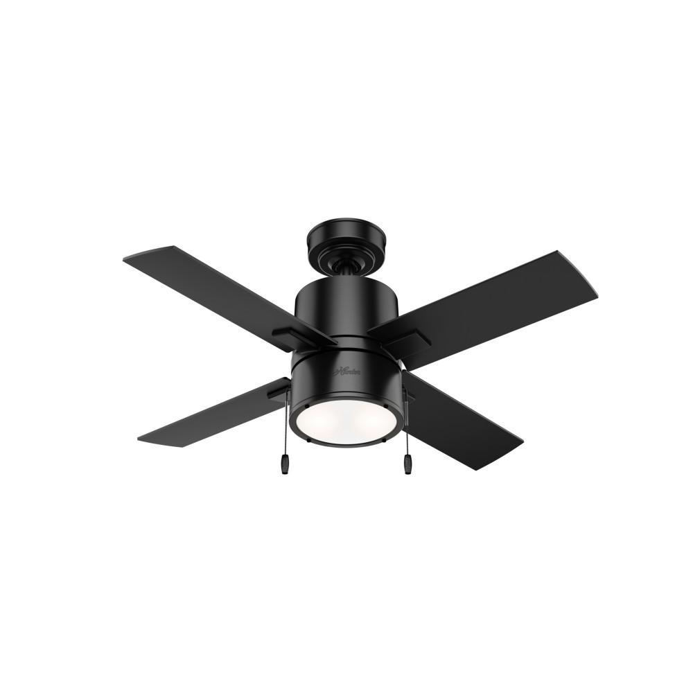 Beck 42 in. LED Indoor Matte Black Ceiling Fan with Light