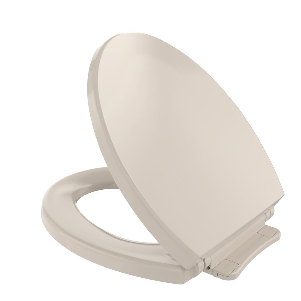 TOTO SoftClose Round Closed Front Toilet Seat in Bone (Ivory)