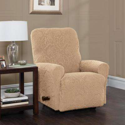 Stretch Floral Recliner Slipcover