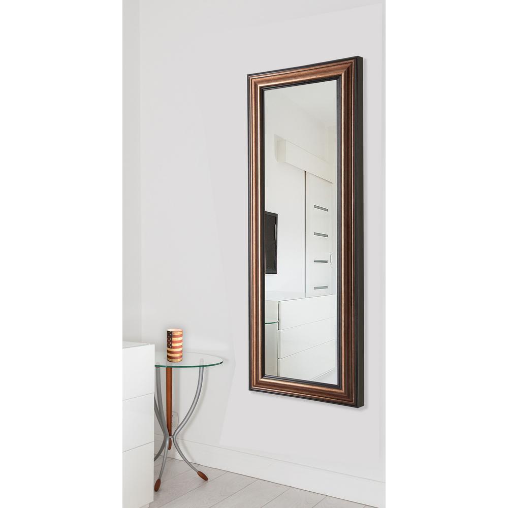 26 in. x 64 in. Canoyon Bronze Non Beveled Vanity Full Body Mirror