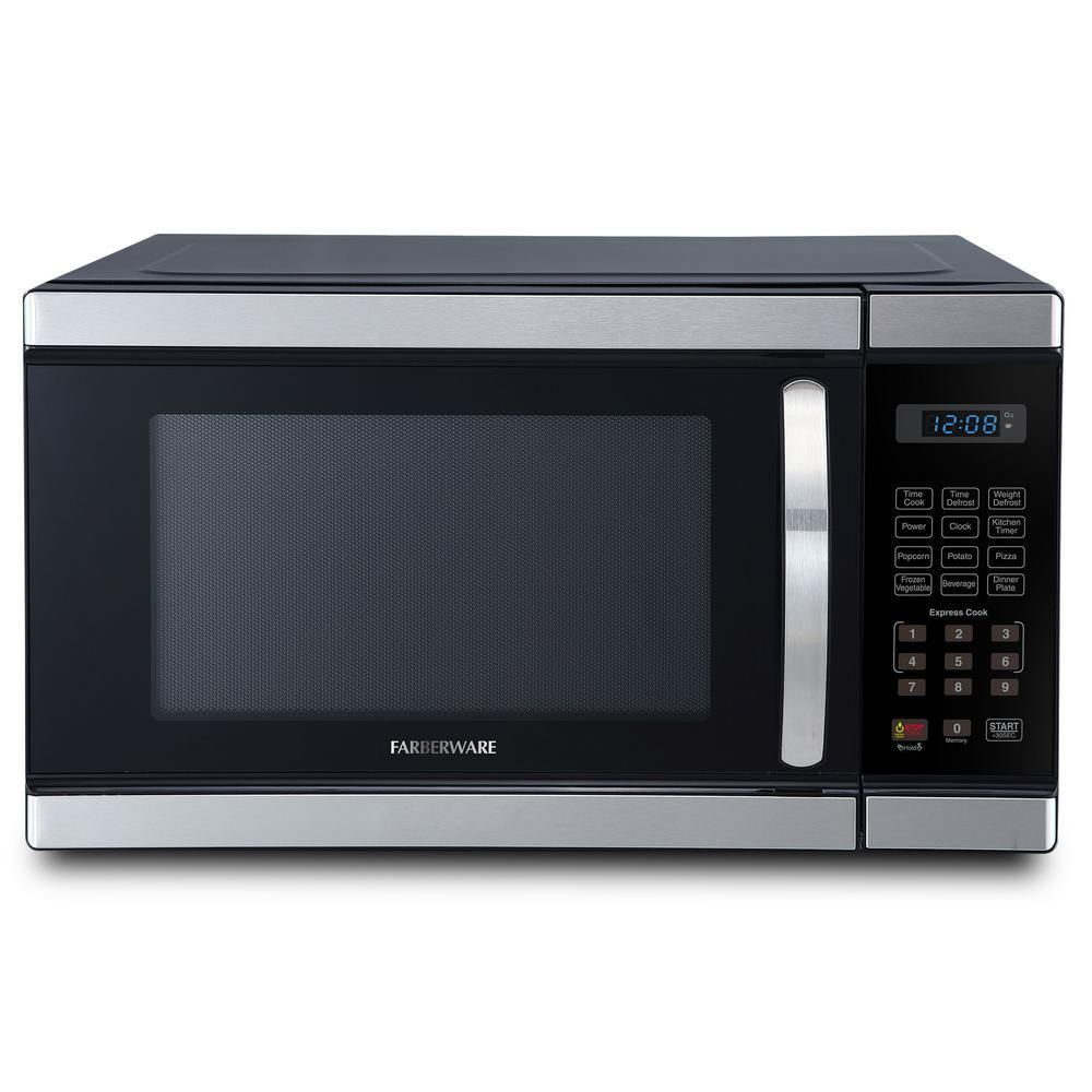 Professional 1.1 cu. Ft. 1000-Watt Countertop Microwave Oven in Stainless Steel