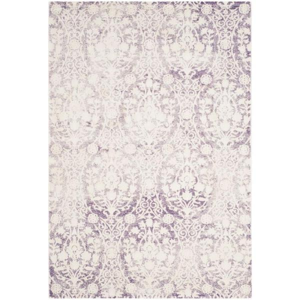 Passion Lavender/Ivory 4 ft. x 6 ft. Area Rug