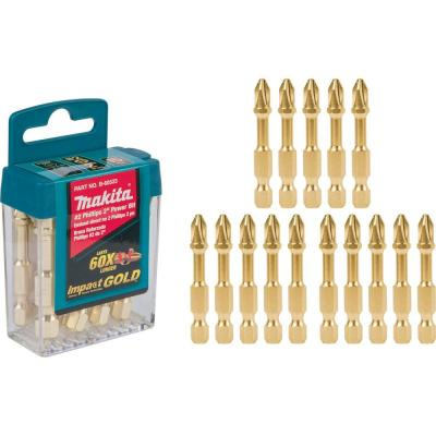 Impact GOLD #2 2 in. Phillips Power Bit (15 Per Pack)