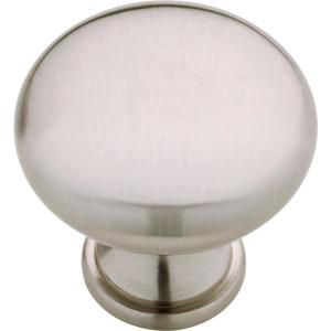 Classic Round 1-1/4 in. (32 mm) Satin Nickel Solid Cabinet Knob