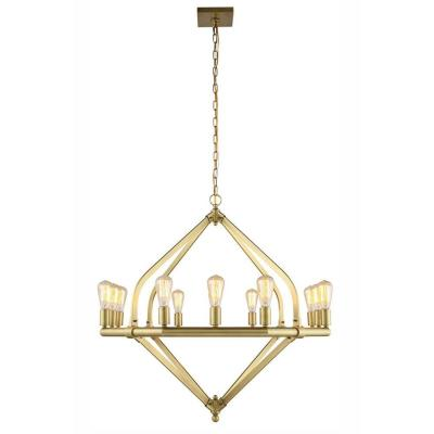 Illumina 12-Light Burnished Brass Pendant Lamp