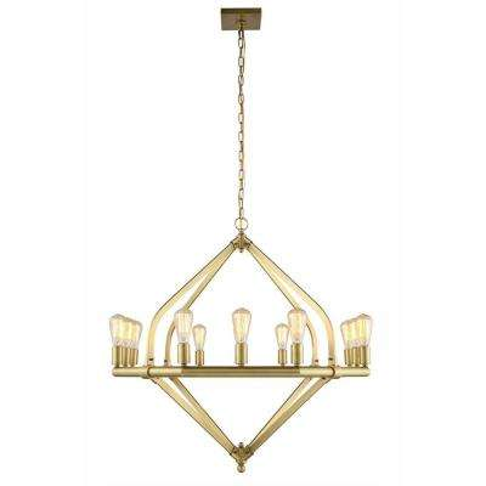 Illumina 12-Light Burnished Brass Pendant Lamp