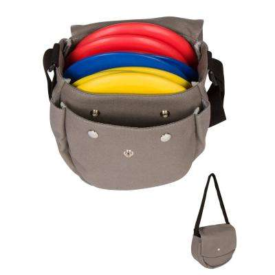 9 in. Frisbee Disc Golf Canvas Carry Bag with 9-Discs