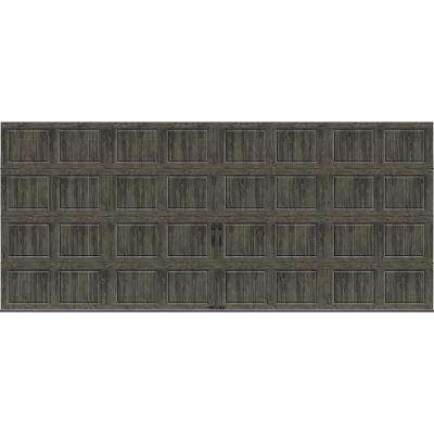 Gallery Collection 16 ft. x 7 ft. 18.4 R-Value Intellicore Insulated Solid Ultra-Grain Slate Garage Door