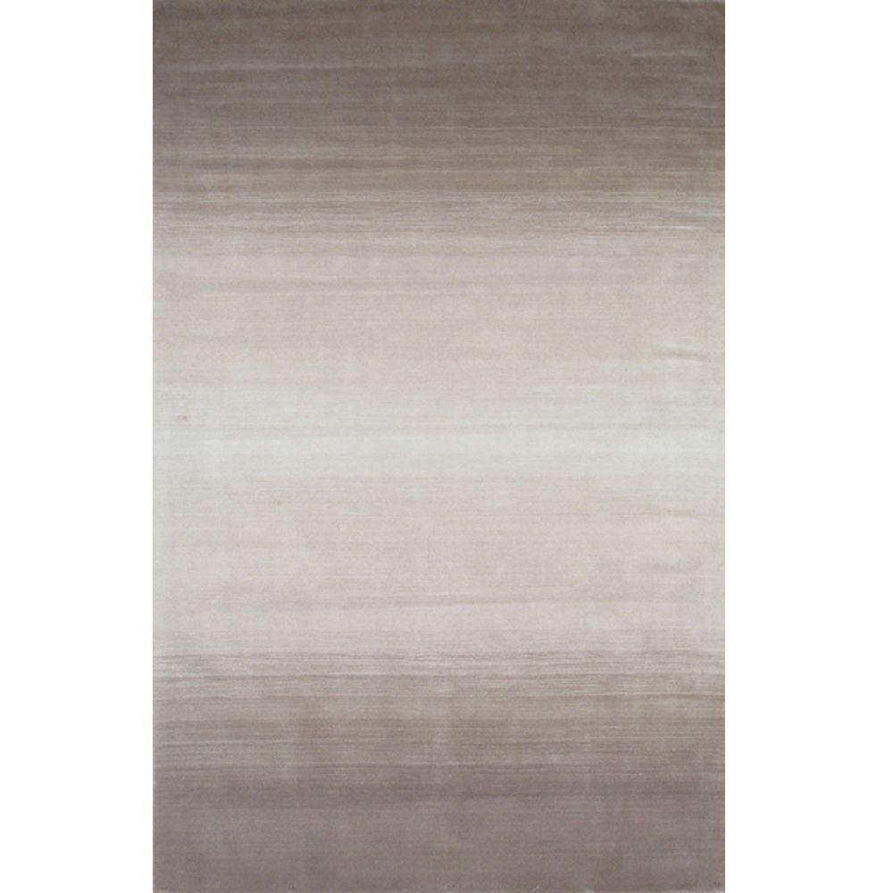 Momeni City Life Collection Taupe 3 ft. 3 in. x 5 ft. 3 in. Indoor Area Rug