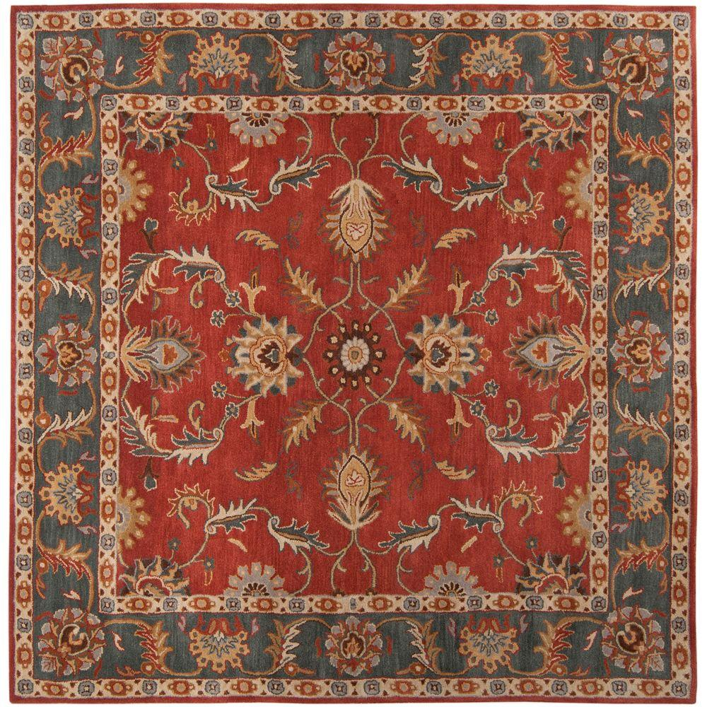 John Rust Red 8 ft. x 8 ft. Square Area Rug