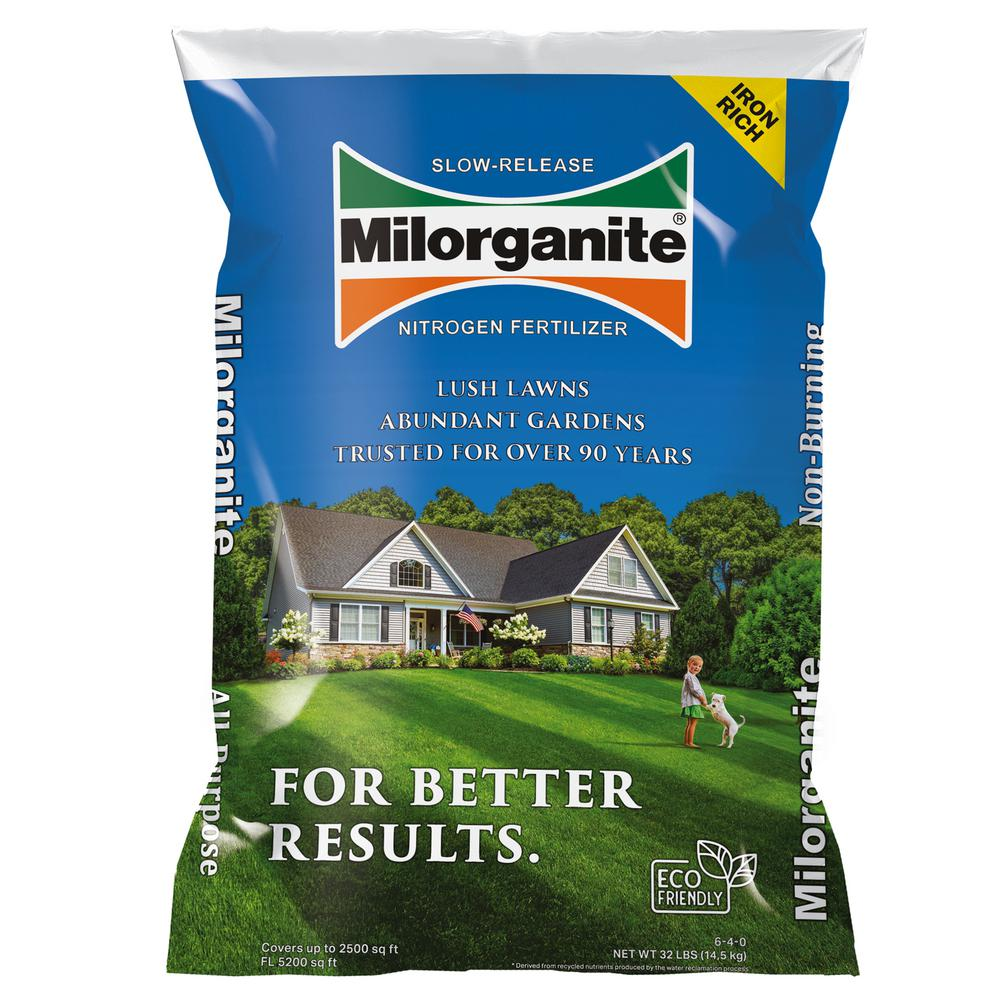 Milorganite 32 Lbs Slow Release Nitrogen Fertilizer