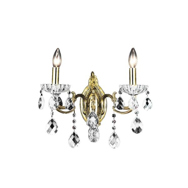 Flawless 2-Light Antique Brass Sconce