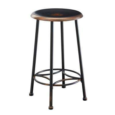 Whitman 24 in. Antique Copper Decorative Bar Stool
