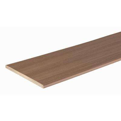 Harvest Collection 1/2 in. x 11-3/4 in. x 12 ft. Autumn Chestnut Fascia Capped Polymer Decking Board