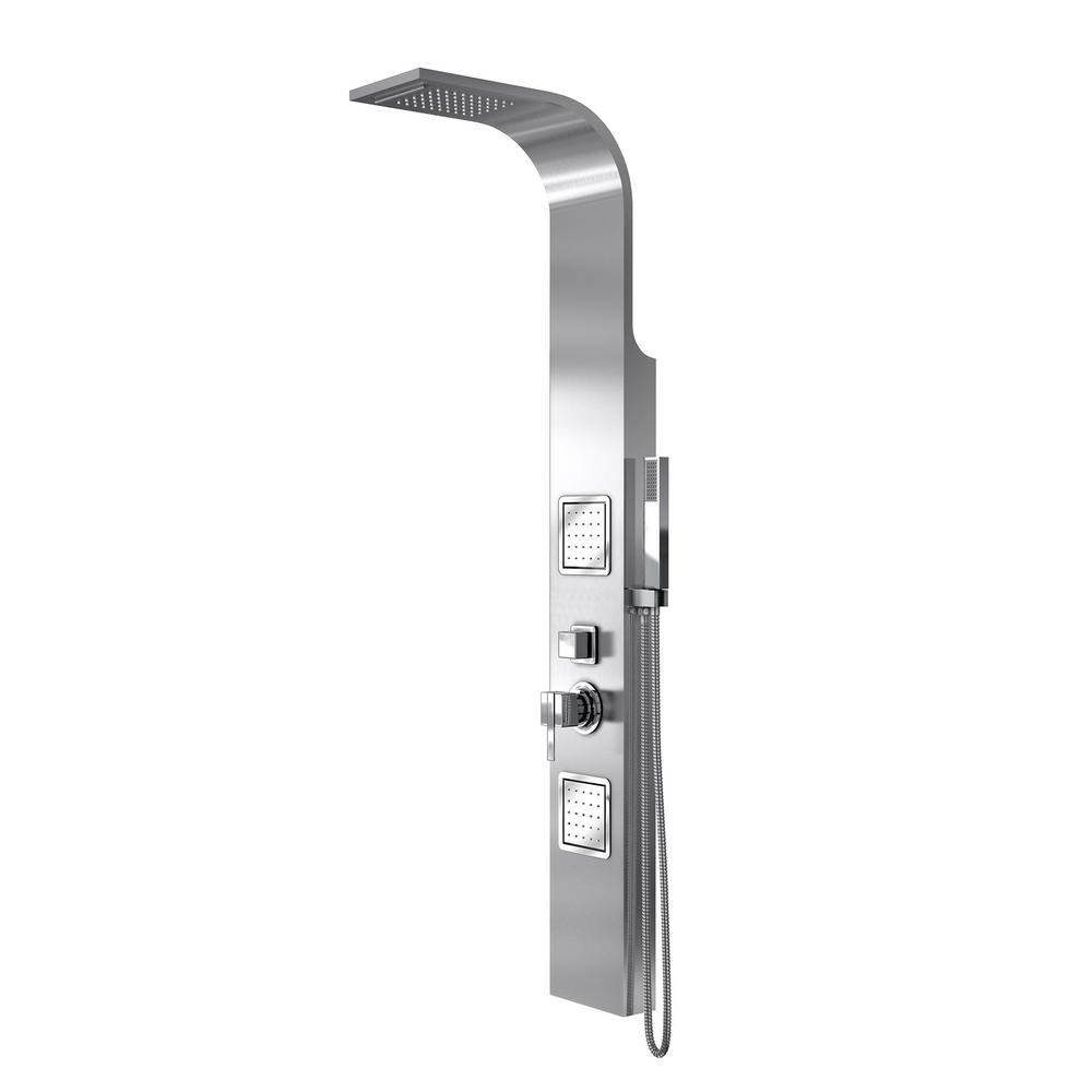 Bonita 57-1/2 in. H Shower Panel System with Overhead Shower, 2