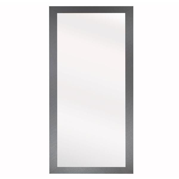 45.5 in. x 39.5 in. Elemental Jaded Platinum Framed Non-Beveled Mirror