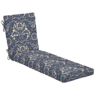 Chelsea Damask Outdoor Chaise Lounge Cushion