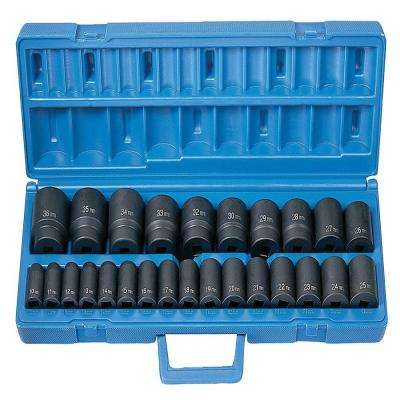 1/2 in. Drive Standard Length Metric Master Set (26-Piece)