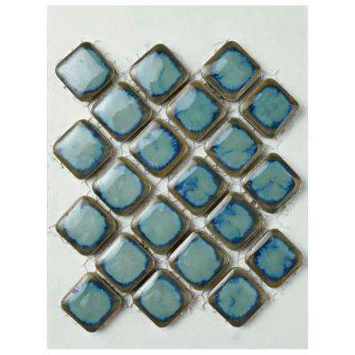 Hudson Diamond Marine Porcelain Mosaic Tile - 3 in. x 4 in. Tile Sample