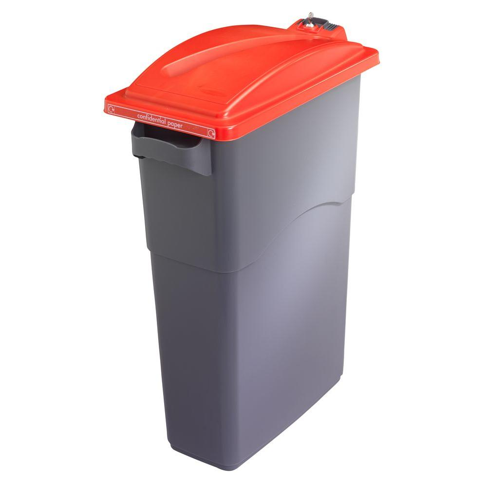 null EcoSort Secure Red Trash Can Recycling Lid
