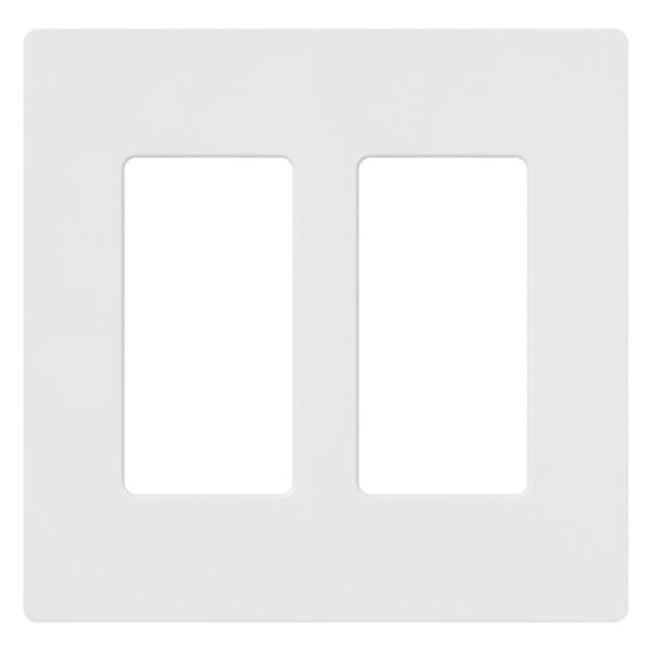 Claro 2 Gang Decorator/Rocker Wallplate,  White (1-Pack)