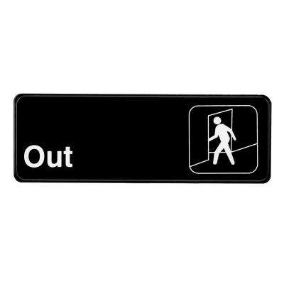 9 in. x 3 in. Black Out Sign