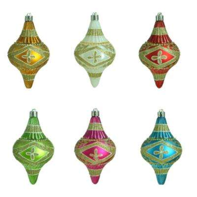 Alpine Holiday Botanical Finial Ornament (12-Count)
