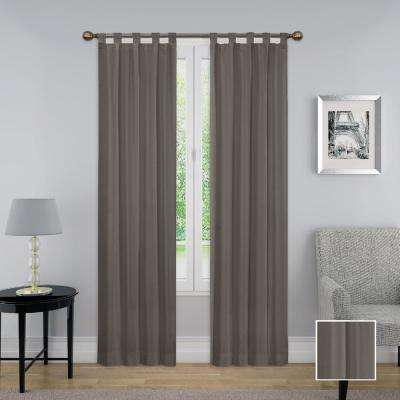 Montana 63 in. L Polyester Tab Top Drapery Panel Pair in Grey