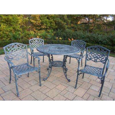 Mississippi Verdi Grey 5-Piece Aluminum Outdoor Dining Set