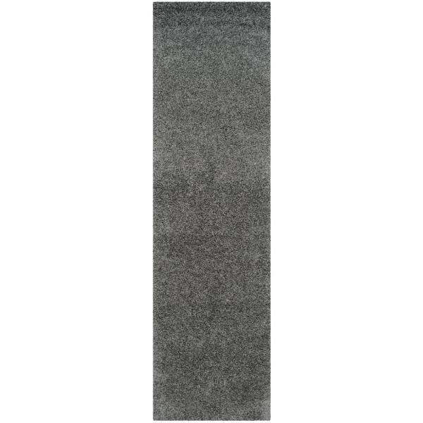 Laguna Shag Dark Gray 2 ft. x 8 ft. Runner Rug
