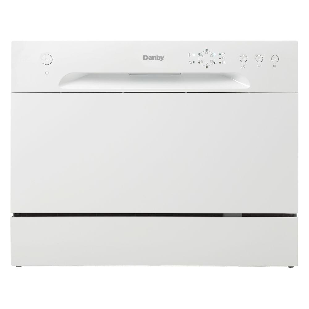 Portable Dishwasher in White with 6 Place Setting Capacity