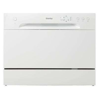 Countertop Dishwasher in White with 6-Place Setting Capacity