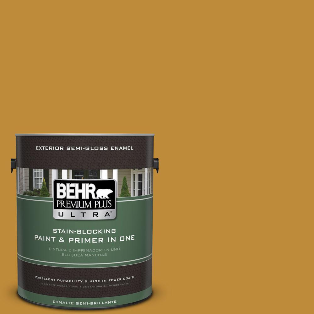 BEHR Premium Plus Ultra 1-gal. #S-H-340 Treasures Semi-Gloss Enamel Exterior Paint