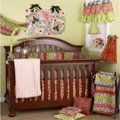 Here Kitty Kitty Collection In Animal Print Crib Bedding Bedding