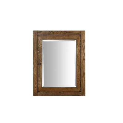 Palmetto 24 in. x 30 in. Surface-Mount Corner Medicine Cabinet in Driftwood